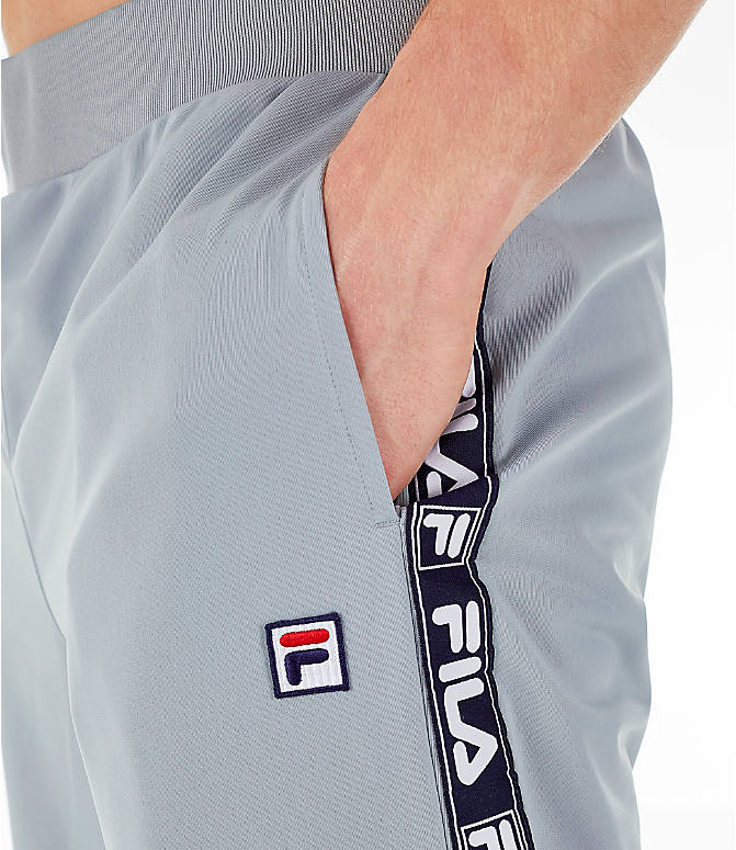 Detail 1 view of Men's FILA Tag Tricot Track Pants in Silver