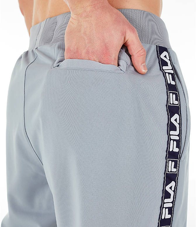 Detail 2 view of Men's FILA Tag Tricot Track Pants in Silver