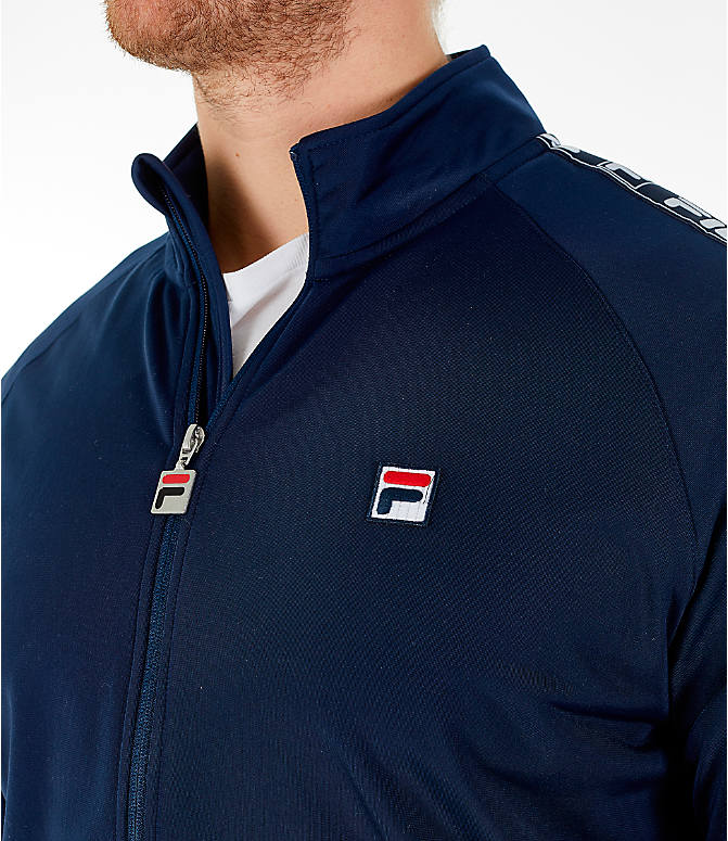 Detail 1 view of Men's FILA Tag Tricot Full-Zip Jacket in Navy