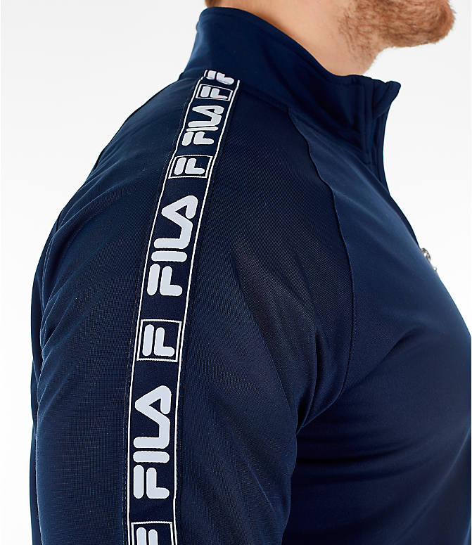 Detail 2 view of Men's FILA Tag Tricot Full-Zip Jacket in Navy