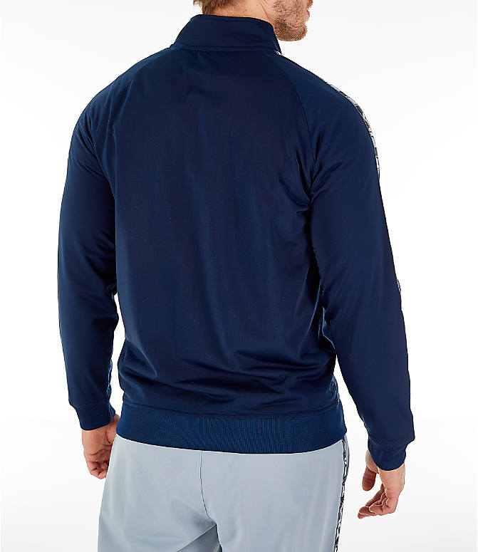 Back Right view of Men's FILA Tag Tricot Full-Zip Jacket in Navy