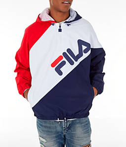 Men's FILA Harrison Half-Zip Nylon Hoodie