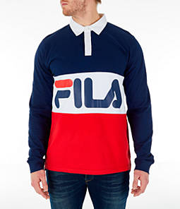Men's FILA Harley Rugby Long Sleeve Collared Shirt