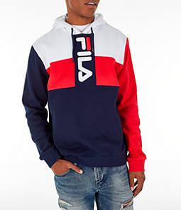 Men's FILA Ollie Colorblock Logo Hoodie