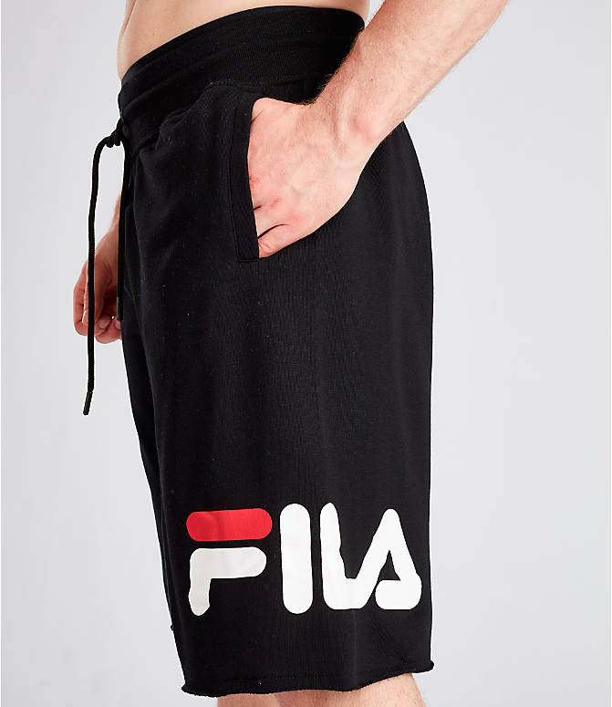 Detail 1 view of Men's Fila George Shorts in Black