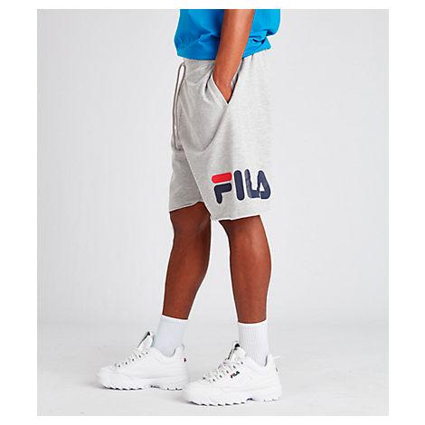Fila Men's Logo Graphic Shorts In Grey