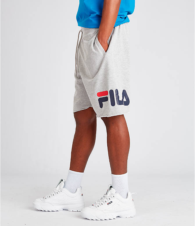 Front view of Men's Fila George Shorts in Grey