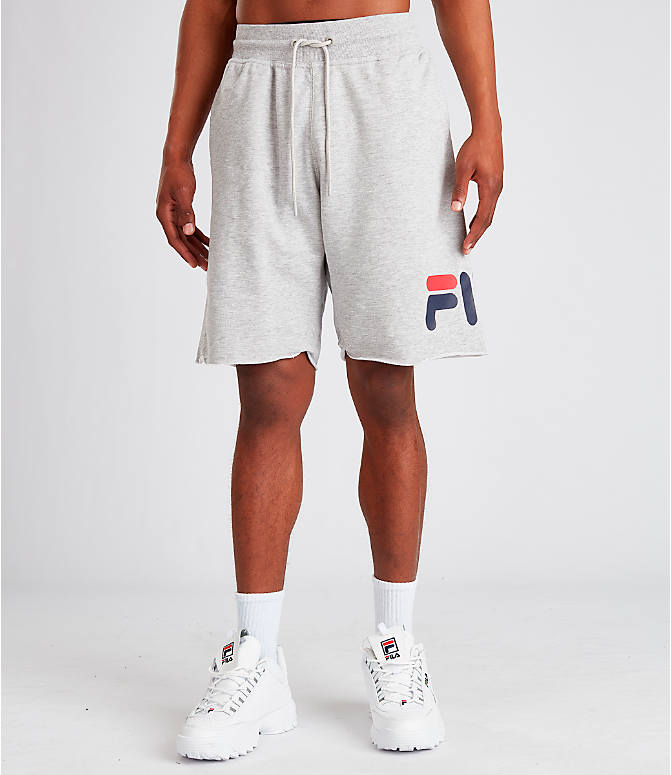 Front Three Quarter view of Men's Fila George Shorts in Grey