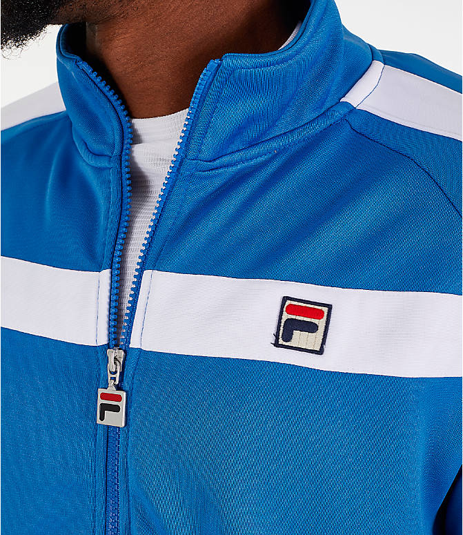 Detail 1 view of Men's Fila Renzo Track Jacket in Blue
