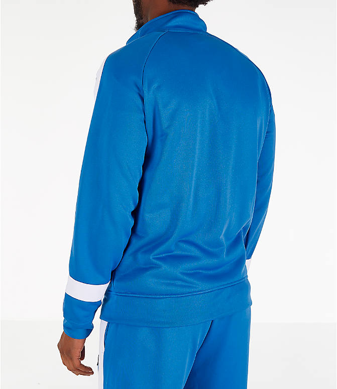 Back Left view of Men's Fila Renzo Track Jacket in Blue