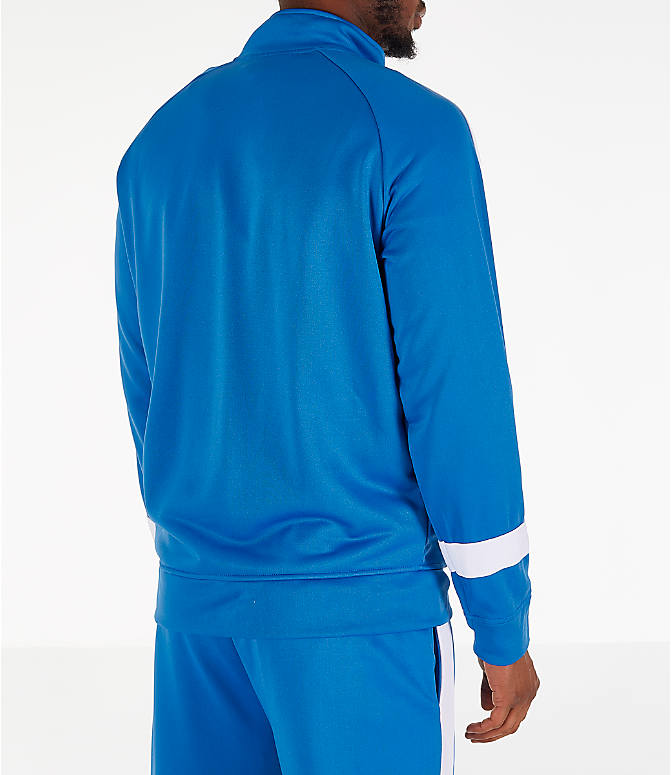 Back Right view of Men's Fila Renzo Track Jacket in Blue