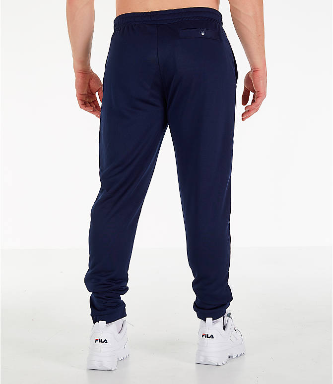 Back Right view of Men's Fila Renzo Track Pants in Navy