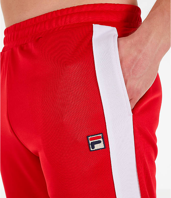 Detail 1 view of Men's Fila Renzo Track Pants in Red