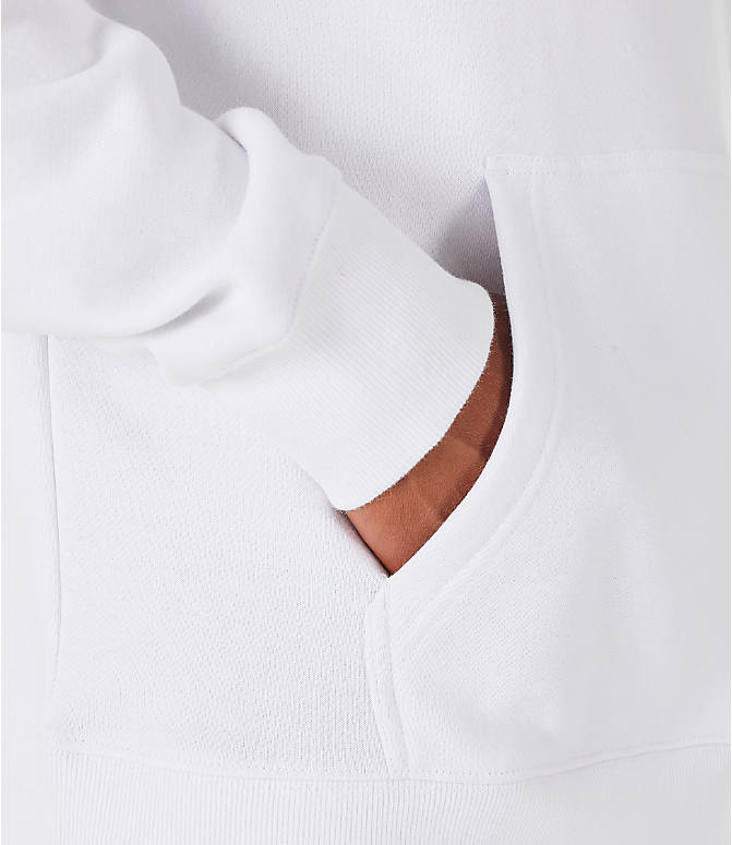 Detail 2 view of Men's Fila Fiori Pullover Hoodie in White