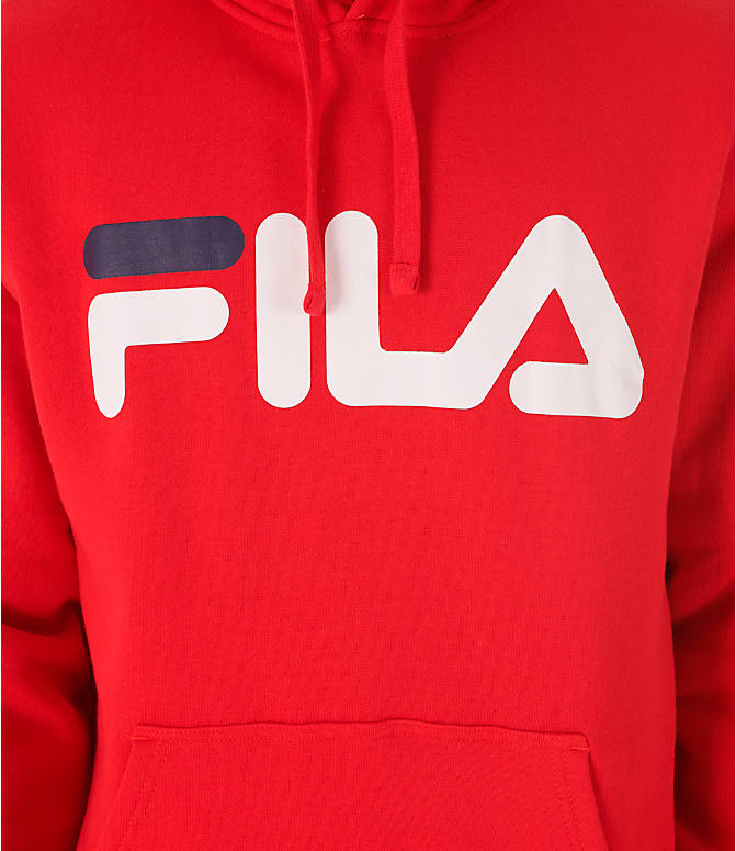 Detail 2 view of Men's Fila Fiori Pullover Hoodie in Red/White/Navy
