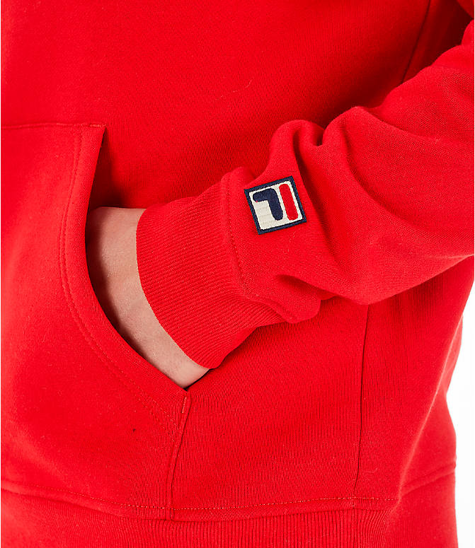 Detail 2 view of Men's FILA Flamino Pullover Hoodie in Red/White/Navy