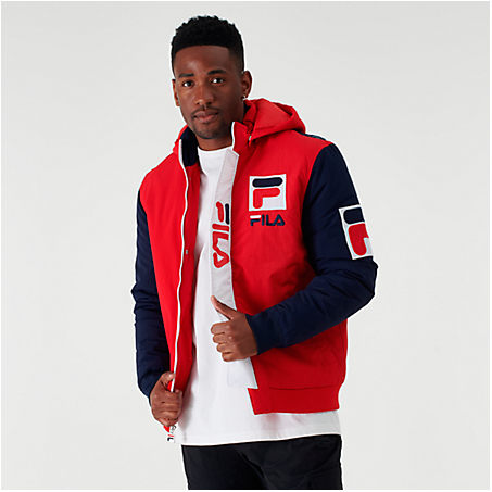 Fila Jackets FILA MEN'S P1 TECH JACKET IN RED SIZE X-LARGE