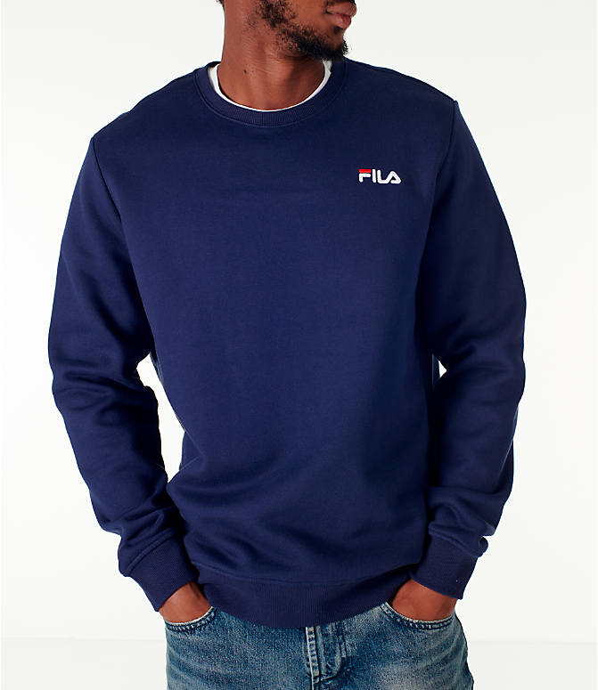 Detail 1 view of Men's Fila Colona Crew Sweatshirt in Navy