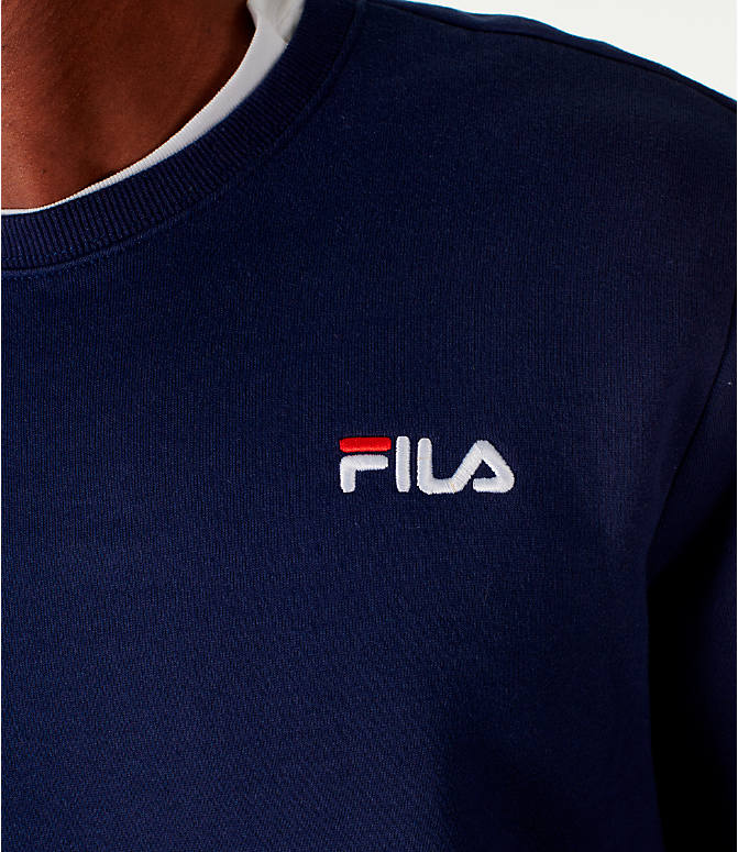 Detail 2 view of Men's Fila Colona Crew Sweatshirt in Navy