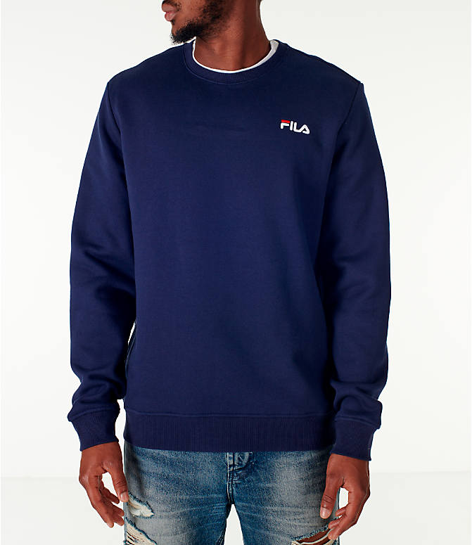 Front view of Men's Fila Colona Crew Sweatshirt in Navy