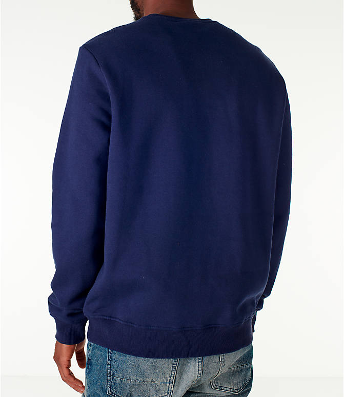 Back Left view of Men's Fila Colona Crew Sweatshirt in Navy