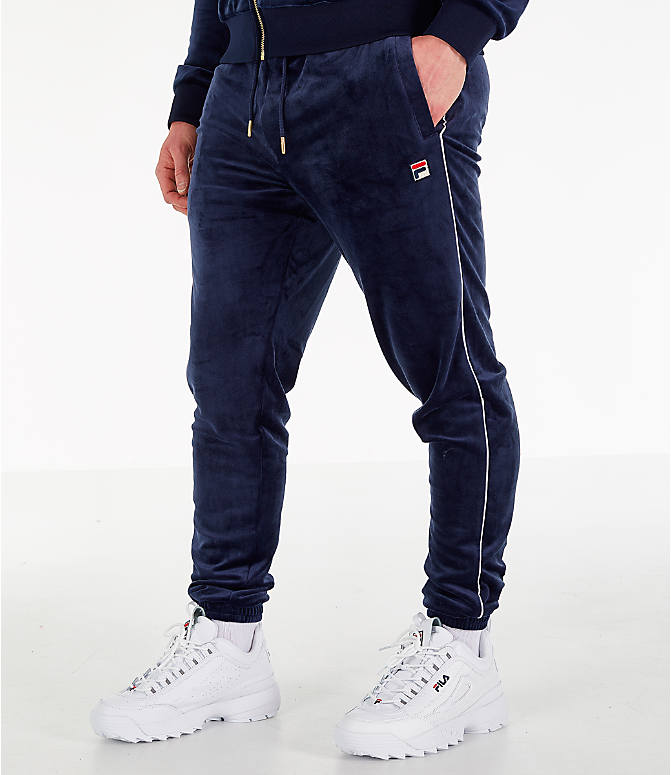 Front view of Men's Fila Bounty Velour Pants