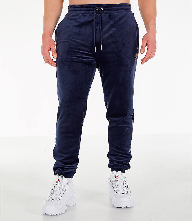 Front Three Quarter view of Men's Fila Bounty Velour Pants