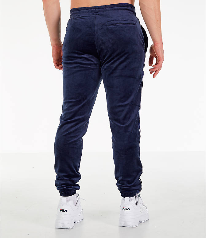 Back Right view of Men's Fila Bounty Velour Pants