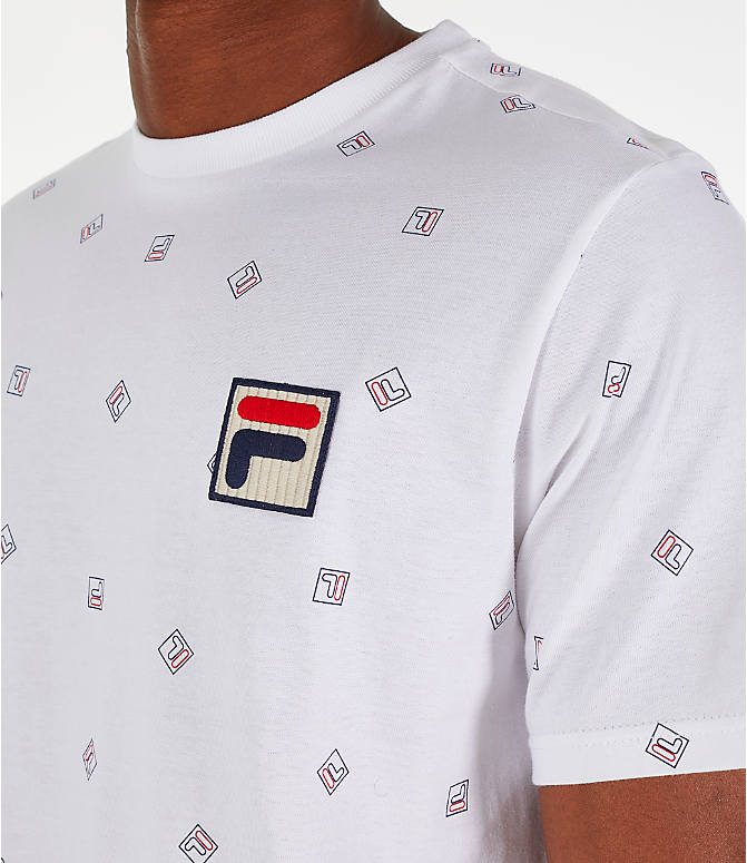 Detail 1 view of Men's Fila Reign T-Shirt in White