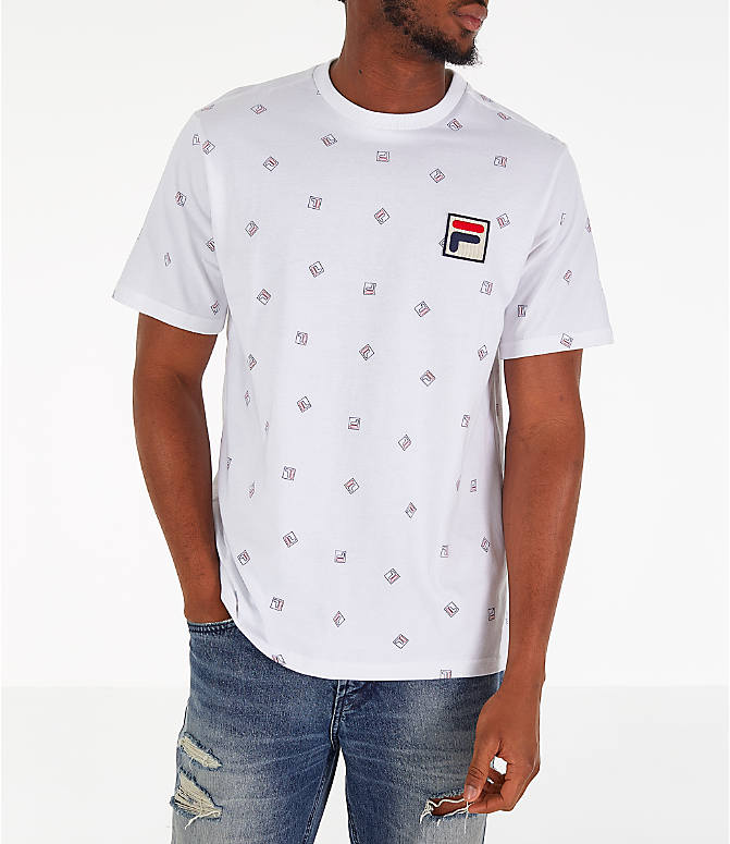 Front view of Men's Fila Reign T-Shirt in White
