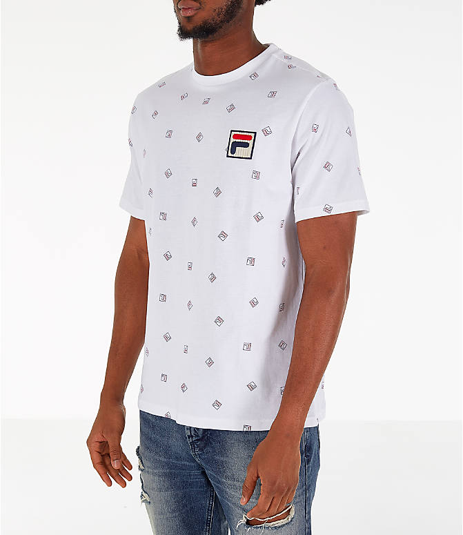 Front Three Quarter view of Men's Fila Reign T-Shirt in White