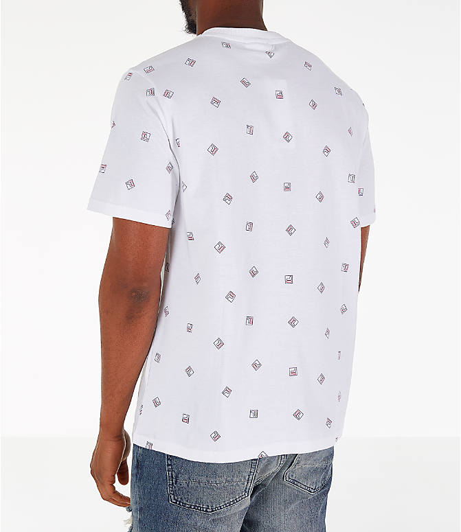 Back Left view of Men's Fila Reign T-Shirt in White