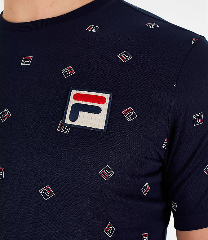 Detail 1 view of Men's Fila Reign T-Shirt in Navy