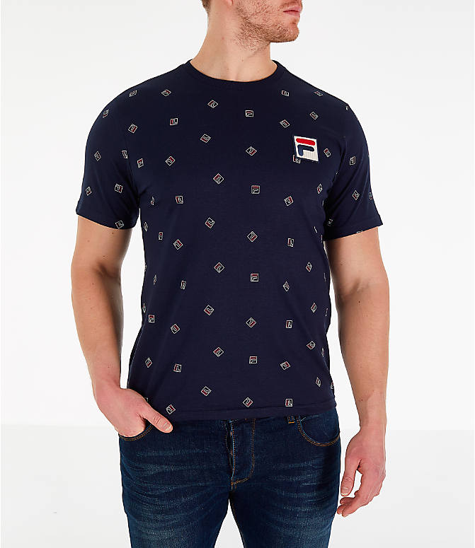 Front view of Men's Fila Reign T-Shirt in Navy
