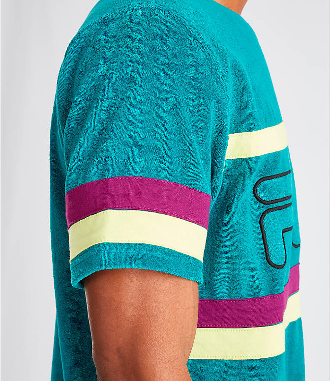 Detail 2 view of Men's Fila Graham Terry T-Shirt in Teal/Purple