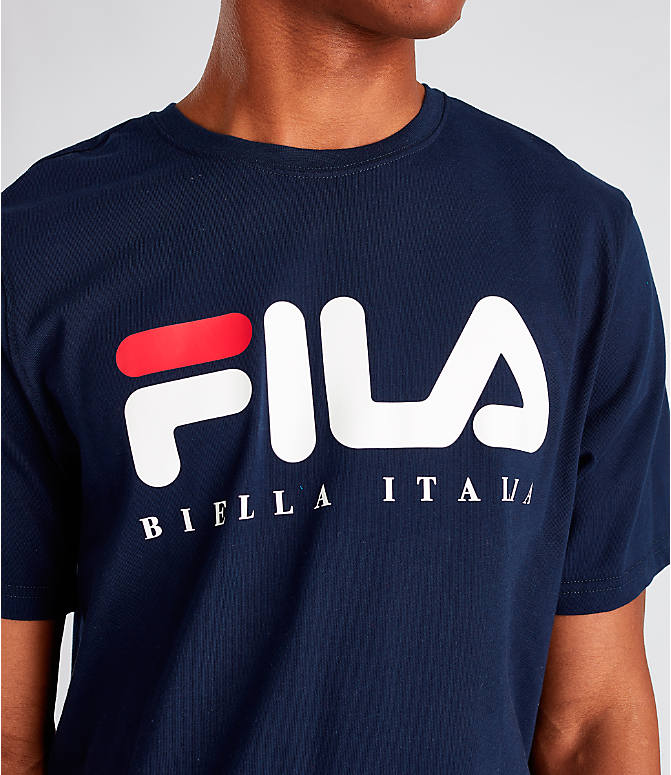 Detail 1 view of Men's Fila Biella Italia T-Shirt in Navy