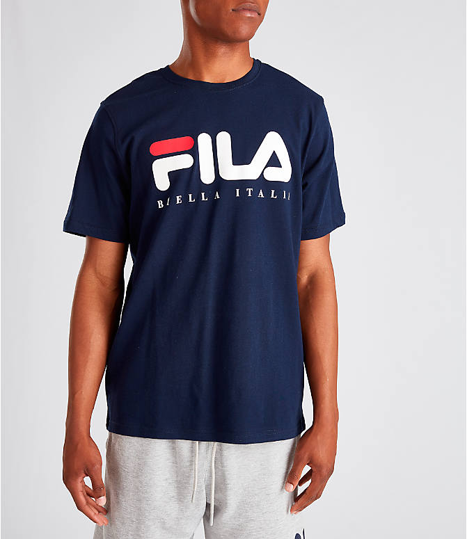 Front view of Men's Fila Biella Italia T-Shirt in Navy