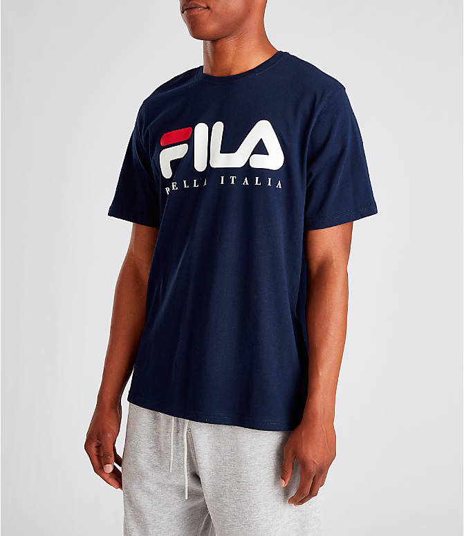 Front Three Quarter view of Men's Fila Biella Italia T-Shirt in Navy