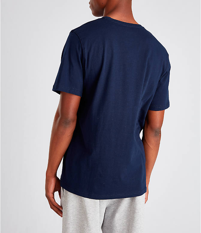 Back Left view of Men's Fila Biella Italia T-Shirt in Navy