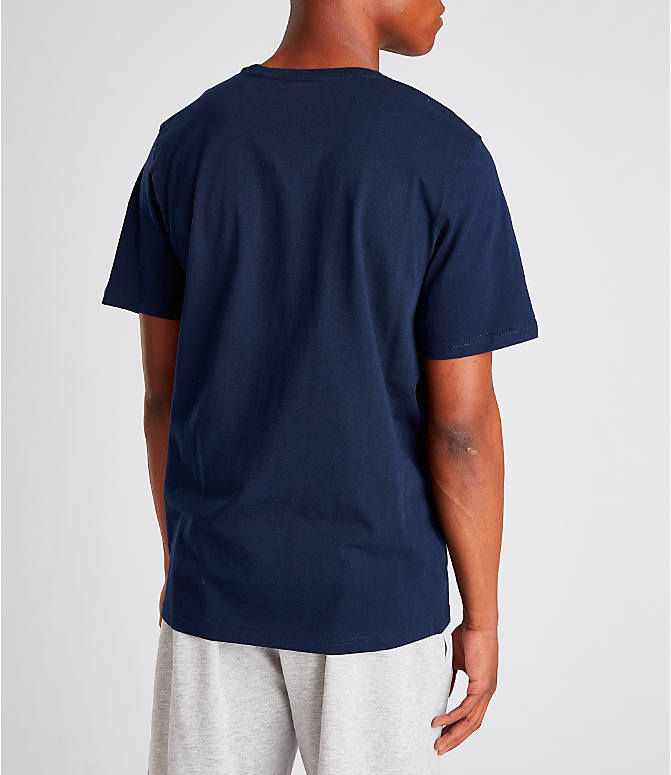 Back Right view of Men's Fila Biella Italia T-Shirt in Navy