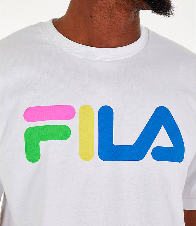 Detail 1 view of Men's Fila Technicolor T-Shirt in White