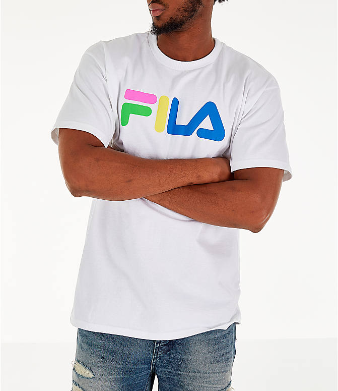 Detail 2 view of Men's Fila Technicolor T-Shirt in White