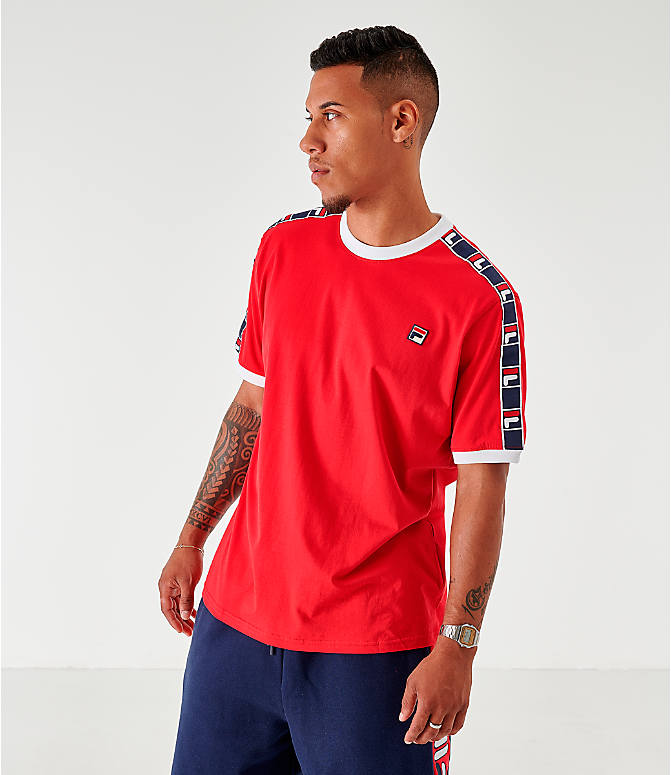 Front view of Men's Fila Luca T-Shirt in Red