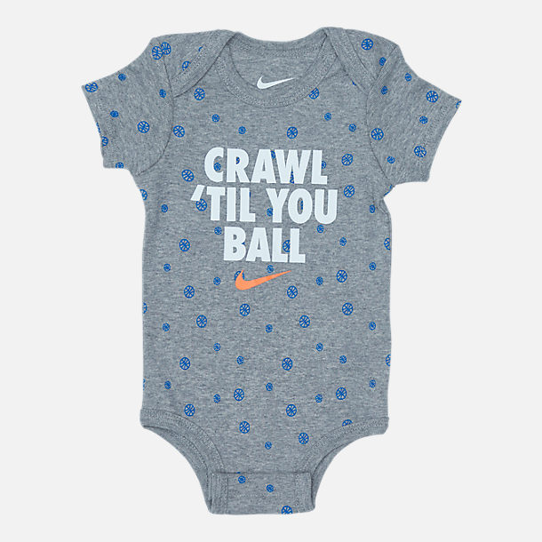 Alternate view of Infant Nike Crawl 'Til You Ball 3-Piece Set in Grey/Blue/Orange