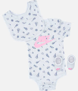 Infant Nike Doodle Futura Allover Print 3-Piece Box Set