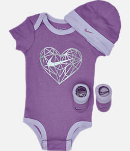 Girls' Infant Nike Heart Geo 3-Piece Box Set