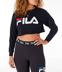 Women's Fila Colette Long-Sleeve Crop T-Shirt