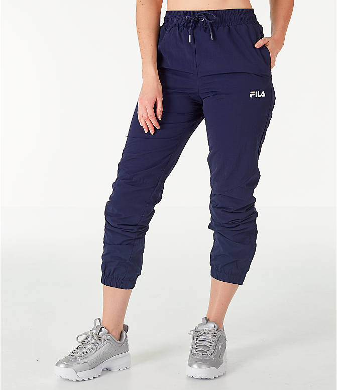 Front view of Women's Fila Isla Jogger Pants in Navy