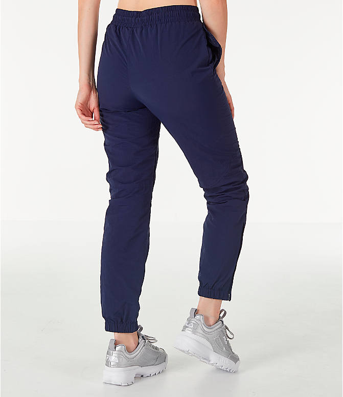 Back Right view of Women's Fila Isla Jogger Pants in Navy