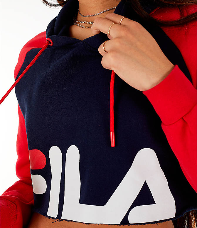 Detail 2 view of Women's Fila Luciana Hoodie in Red/White/Blue